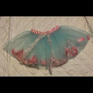 Beary basics blue flower tutu